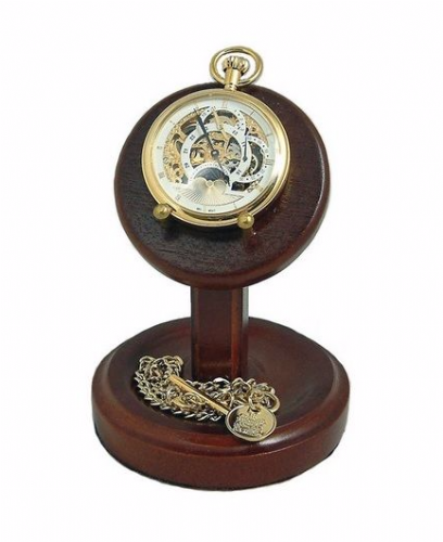 Wooden Pocket Watch Stand